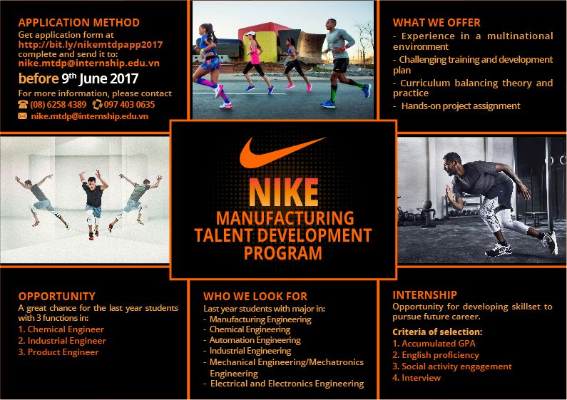 Internship - Nike MTDP 2017 - POSM - Flyer