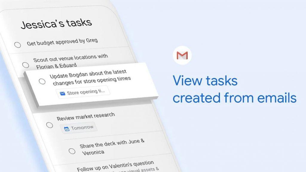 Giao diện Google Tasks
